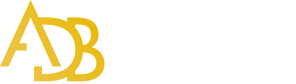 Logo ADB Conseils fond bleu 600px